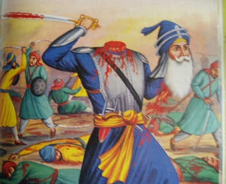 Clash With The Mughals At News Of Approach Singhs Governor Lahore Sent One His Generals An Army Twenty Thousand To Face Them