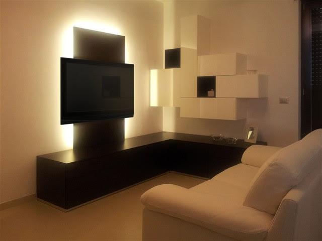 Modern Corner Wall Unit / Entertainment Center Custom ...
