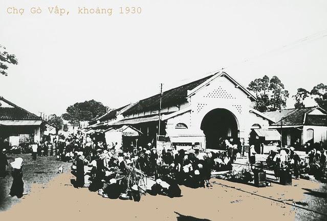 Chợ Gò Vấp khoảng 1930