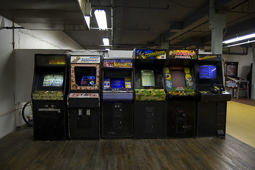 Where Old Video Game Cabinets Go To Die.