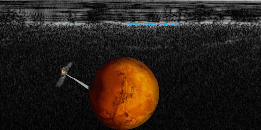 Possible lake spotted under a polar ice cap—on Mars