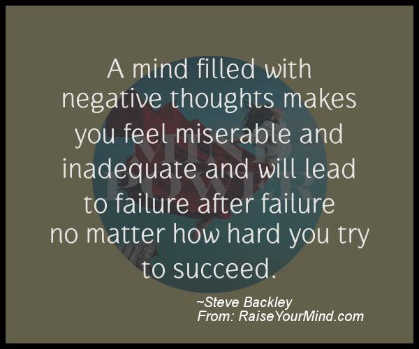 Motivational Inspirational Quotes A Mind Filled With Negative