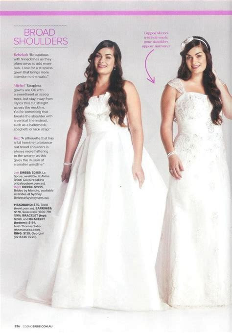 Cosmo real bride wedding gown tips for girls with broad