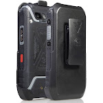 Holster for Sonim XP5s, Nakedcellphone Black [Rotating/Ratchet] Belt Clip Case [with Kickstand] for Sonim XP5s Phone (XP5800)
