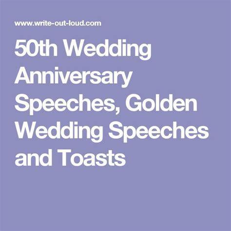 50th Wedding Anniversary Speeches, Golden Wedding Speeches