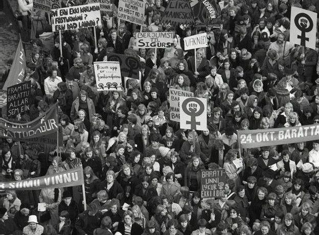 El Día Libre de las Mujeres en Islandia, 1975