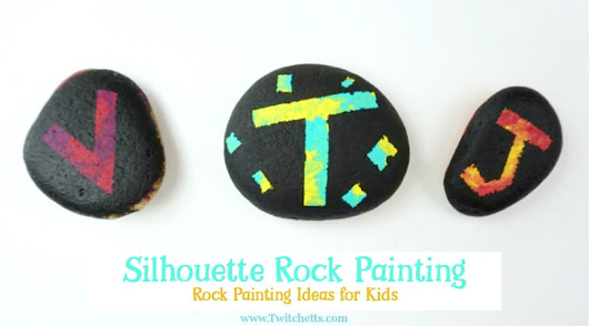 How to make easy silhouette painted rocks for kids - Twitchetts