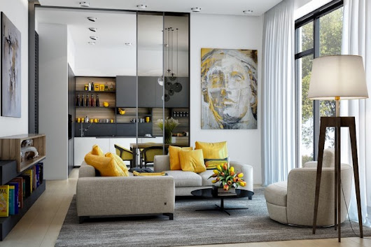 25 Gorgeous Yellow Accent Living Rooms - Home Designing
