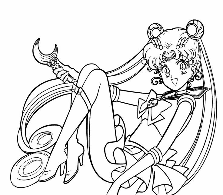 Sailor Moon Drawing At Getdrawingscom Free For Personal Use