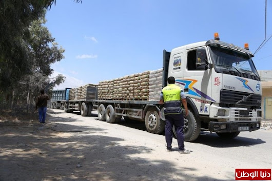 Cement Entering Gaza After Absense for Two Months