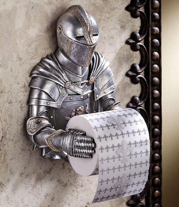 Soporte de papel higiénico ideal si vives en una castillo!