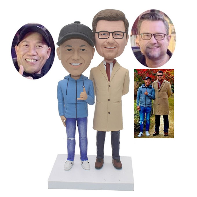 Custom 2 Person Bobblehead Good Gifts For Business Partners Friends