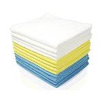 Royal Reusable Microfiber Cleaning Cloth Set - 12 x 16 inch Microfiber Cloth - 4