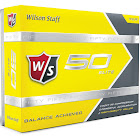 Wilson Staff 50 Elite Golf Balls, Yellow - 12 count