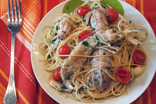 Spaghetti alle canocchie