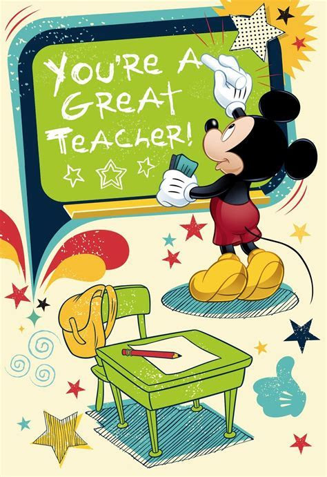 You're a Great Teacher Mickey Mouse Greeting Card
