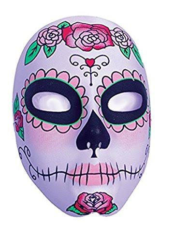 Womens Day Of The Dead Sugar Skull Full Mask Blush Design