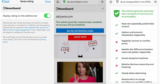Microsoft's mobile Edge browser begins issuing fake news warnings