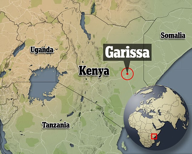 Masked gunmen stormed the Garissa University College campus, in Kenya's north-east, yesterday