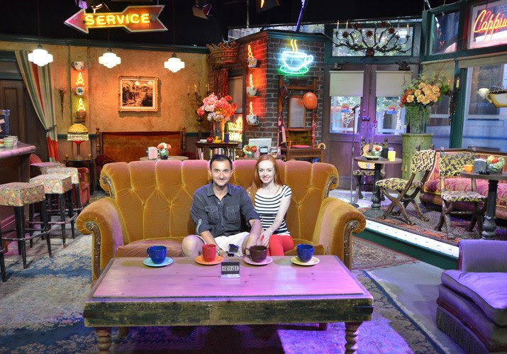 Visiting Friends Central Perk set Warner Bros Studio California