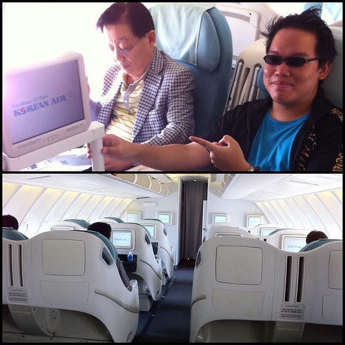 Bumped up to Business class!