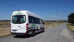 Air NZ Plane + United Campervans Motorhome