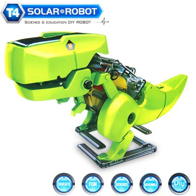 CUTE SUNLIGHT 2125 DIY 4 in 1 Solar Walking Robot Kits T4 Educational Building Block Puzzling Toy-8.28 Online Shopping| GearBest.com