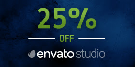25% Off at Envato Studio