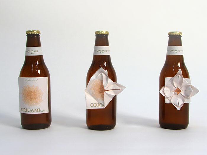 Origami Bottle Label
