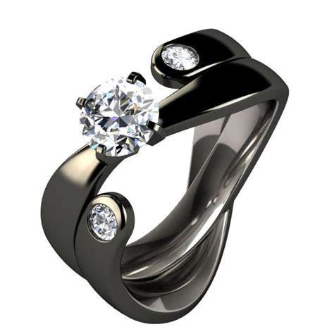 Titanium Rings For Women   Black Titanium Wedding Rings