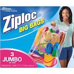 Ziploc Jumbo Size Big Bags - 3ct (XXL), Clear