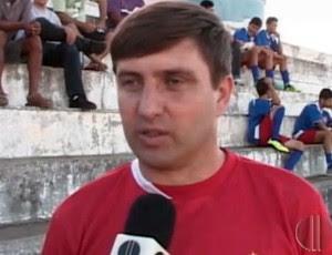 Gilberto Gaúcho, treinador do Potiguar de Mossoró (Foto: Reprodução/Inter TV Cabugi)