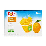 Dole Mandarin Oranges in Fruit Juice - 16 pack, 4 oz cups