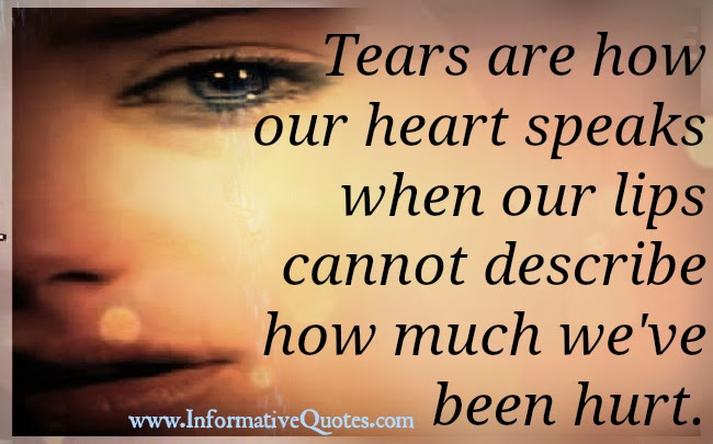 Tears Are How Our Heart Speaks When Our Lips Cannot Informative Quotes