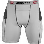 (Medium, White) - Marucci Adult Elite Padded Slider Shorts
