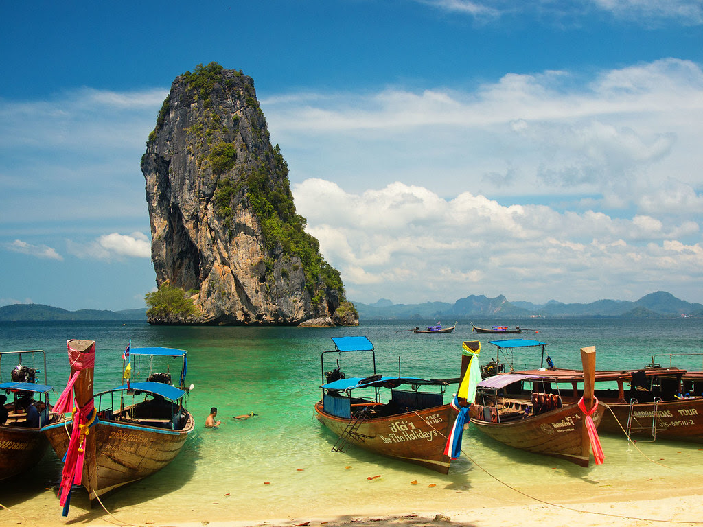 Boats on the beach / Krabi / Thailand / 29.02.2012