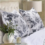 Greenland Home Classic Toile Pillow Sham, King, Black