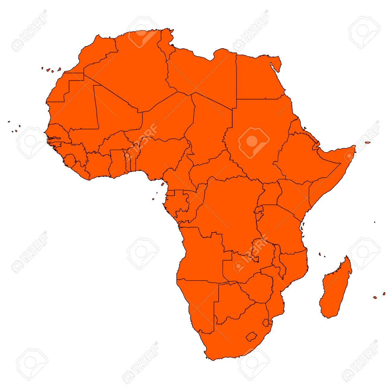 Editable Map Of Africa And Islands Royalty Free Cliparts, Vectors ...