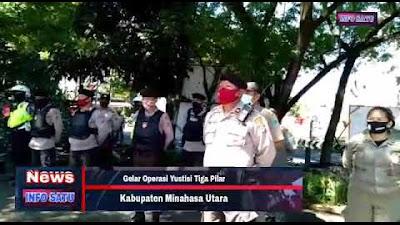 Pemerintah, Polres dan TNI Minut Gabung Gelar Operasi Yustisi