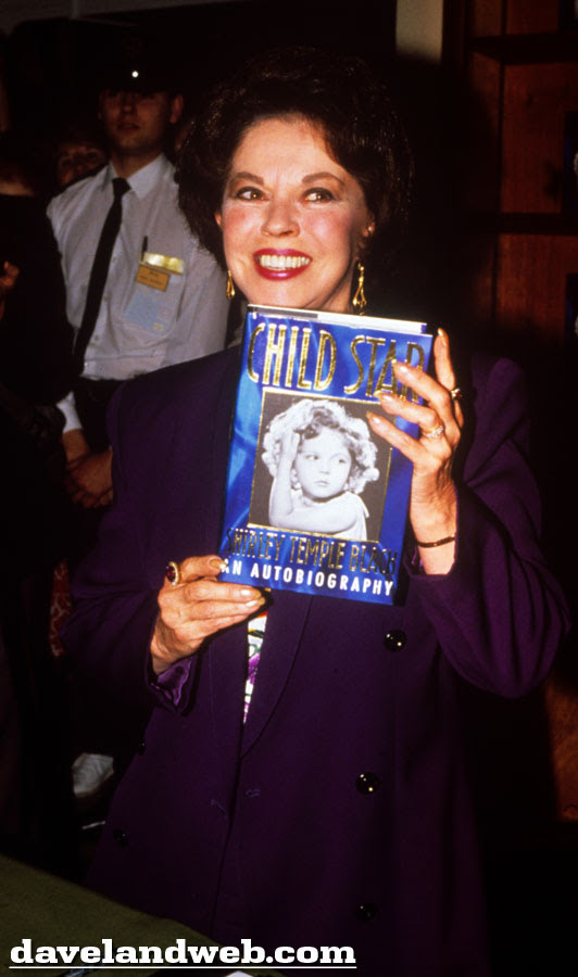 Shirley Temple Black promoting her autobiography Child Star photo