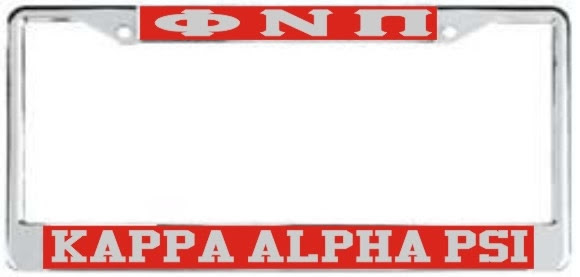 Kappa Alpha Psi Phi Nu Phi License Plate Frame