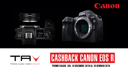 Cashback Canon EOS R - Trans Audio Video S.r.l.