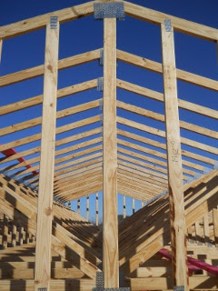 House Roof Trusses Finished - Slope View