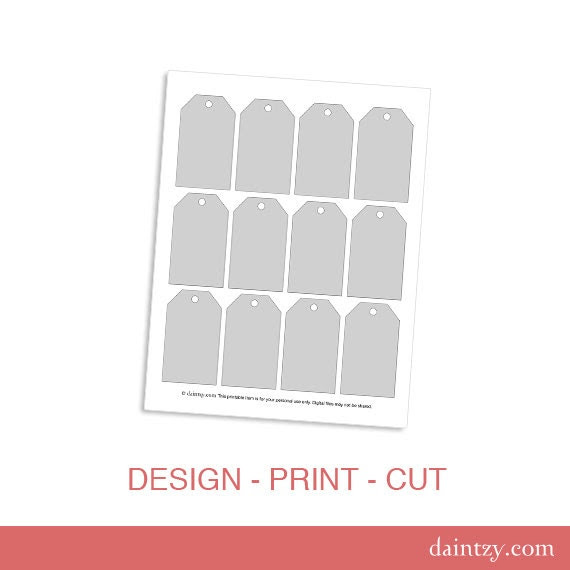 luggage tag template – Etsy