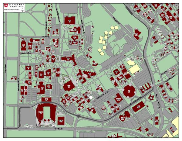 University Of Utah Map   CYNDIIMENNA