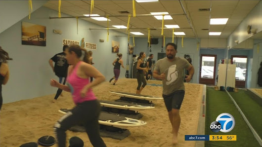 Fitness studio uses sandbox to help ease joint pain during workouts |
