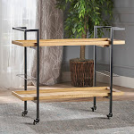 Christopher Knight Home Gerard Industrial Wood Bar Cart by, Brown