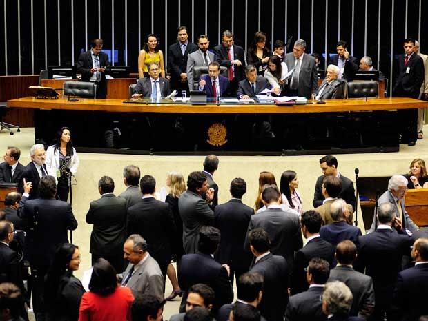 Sesssão no plenário da Câmara, em 2014, presidida por Henrique Eduardo Alves (Foto: Gustavo Lima / Agência Câmara)