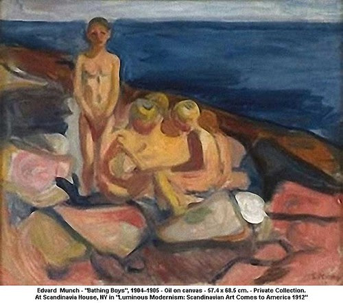 "Edvard  Munch - ""Bathing Boys"", 1904–1905 by artimageslibrary"