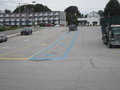 vehicle lines at rockland ferry terminal